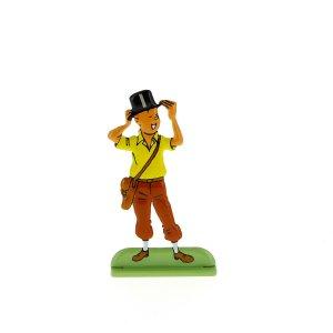 Silueta metalica Tintin con sombrero en 'los cigarros del faraon' (...