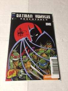 Batman Teenage Mutant Ninja Turtles Adventures 1 Signed Ken Haeser Nm With COA