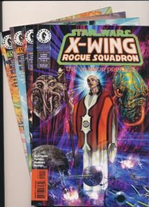 1996 STAR WARS X-WING Rogue Squadron SET #1-4 VERY GOOD/FINE/VF (SIC124)