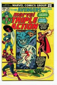 Marvel Triple Action 20 VF 8.0 Avengers Marvel 1974 Uncertified FREE SHIP