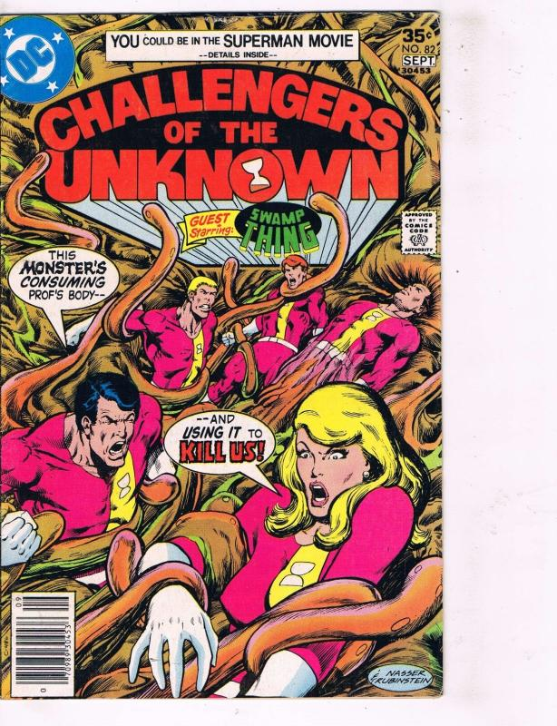 Lot of 3 Challengers of the Unknown DC Comic Books # 82 1 2  Super Heroes AD40
