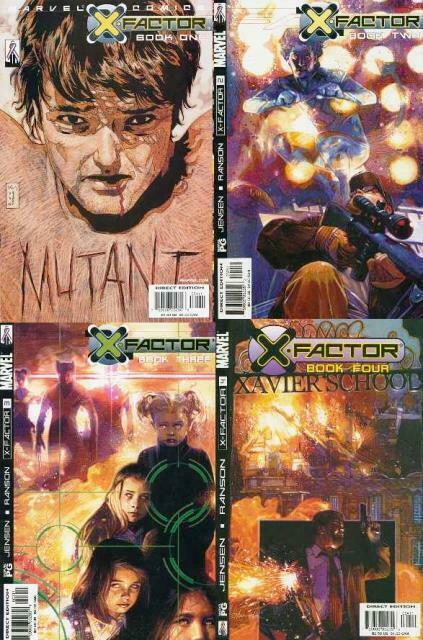 X FACTOR (2002) 1-4  complete series!