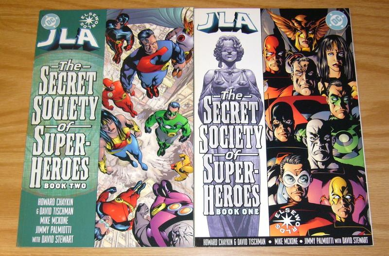 JLA: the Secret Society of Super-Heroes #1-2 VF/NM complete series - elseworlds