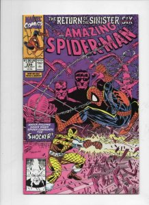 Amazing SPIDER-MAN #335, VF, Sinister Six, Shocker, 1963 1990, more ASM in store
