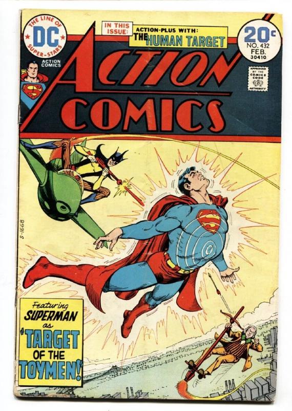 ACTION COMICS #432 1974-SUPERMAN-Bronze Age FN