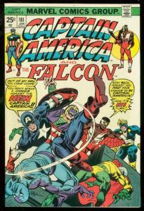 CAPTAIN AMERICA #181 1974-FALCON-ORIGIN FN