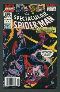 Spectacular Spiderman Annual #10  Newsstand / 9.2 NM-  1990