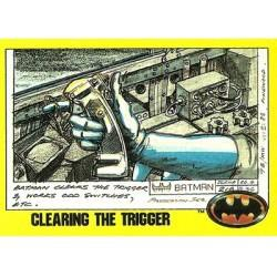 1989 Batman The Movie Series 2 Topps CLEARING THE TRIGGER #206