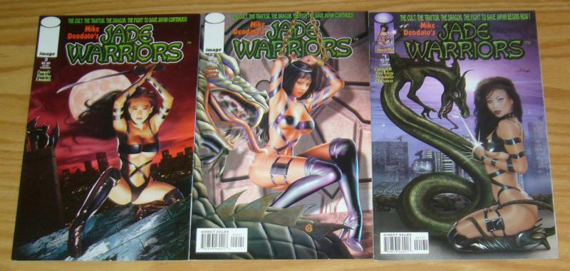 Mike Deodato's Jade Warriors #1-3 VF/NM complete series - all photo variants
