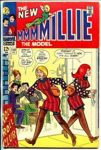 Millie The Model #158 1968-Marvel-fashion page-Chili appears-VG-