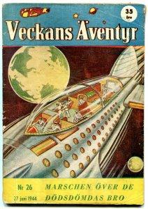 Veckans Aventyr #26 1944-Swedish comic Superman Jungle Jim G/VG