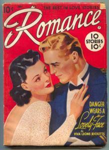 Romance Pulp July 1942- Danger Wears a Lovely Face