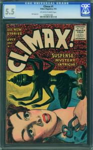 Climax #1 (Gilmore Mag, 1955) CGC 5.5 FN-