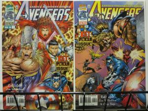 AVENGERS (1996) 1 both Liefeld RED & Yaep BLUE cvr vars