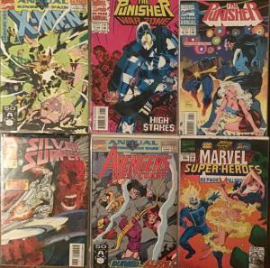 X-MEN, AVENGERS,PUNISHER,MS. MARVEL (MARVEL)ANNUALS 6 BOOK LOT  NM