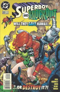 Superboy & Knockout #23 (Jan 96) - Will They Save Hawaii or Destroy It?