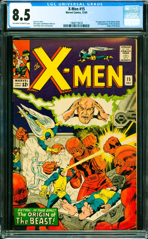 X-Men #15 CGC Graded 8.5 1st appearance of the Master Mold. 2nd appearance of...