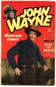JOHN WAYNE ADVENTURE COMICS #8-1951-FRANK FRAZETTA-AL WILLIAMSON-PHOTO COVER