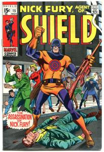 NICK FURY, AGENT of SHIELD #15, FN/VF, 1st Bullseye, Death 1968, more in store