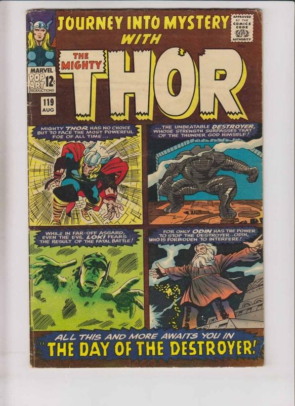 Journey Into Mystery #119 VG+ thor -1st warriors three (fandral/hogun/volstagg)