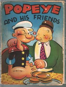 Popeye and His Friends #2114 1937-EC Segar art-includes dust jacket-VG-