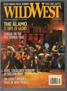 Wild West 2/1996-Dan Mieduch cover-Davy Crockett-Alamo-Louis L'Amour-VG