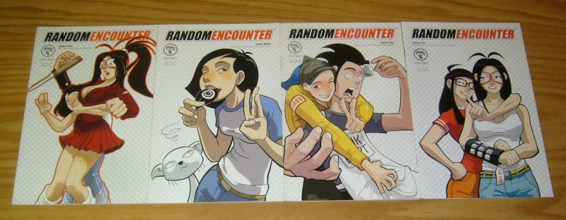 Random Encounter #1-4 VF/NM complete series - nicc balce - viper comics 2 3 set