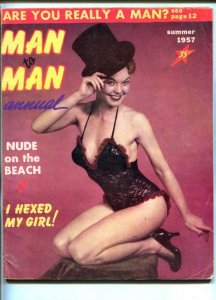 MAN TO MAN ANNUAL -SUM 1957-DIANA DORS-VOODOO, CHEESECAKE-PULP FICTION-vg