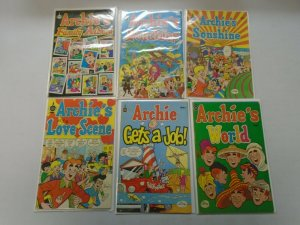 Bronze age Archie comic lot 6 different avg 5.0 VG FN (Spire Christian Comics)