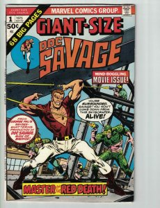 Giant-Size Doc Savage #1 VG reprints Doc Savage (Marvel) #1 & 2 - Man of Bronze
