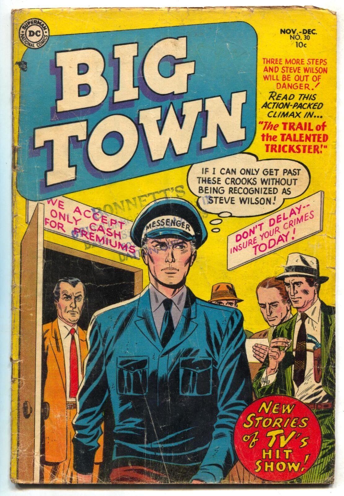 Big Town #30 1954-DC-hit TV series-pre-code crime & violence