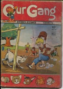 Our Gang #14 1944-Tom & Jerry-Carl Barks art-FR