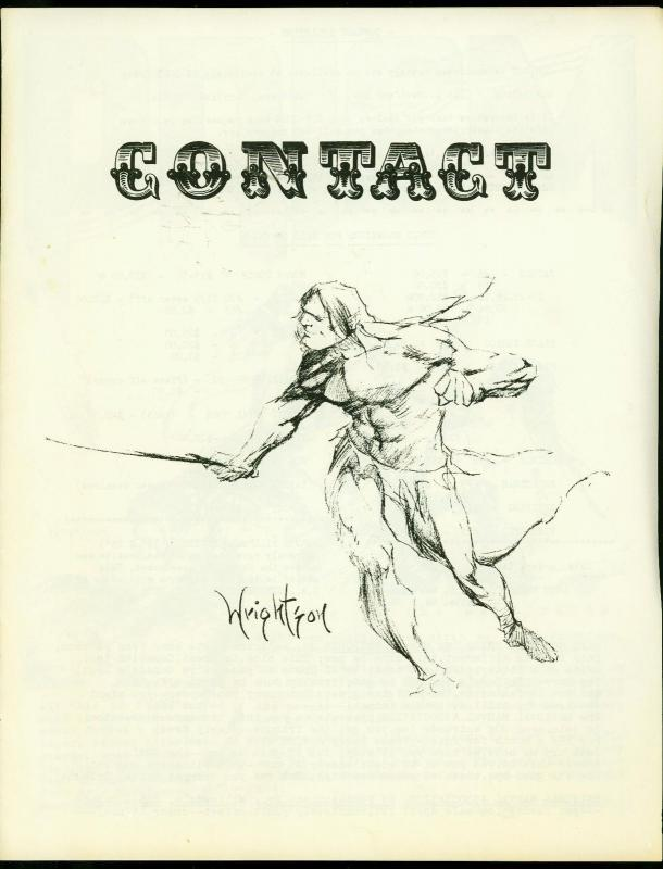Contact ad zine fanzine 1968- Wrightson cover FN