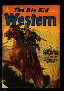 The Rio Kid Western June 1949- Thrilling Pulp-Walker Tompkins- G