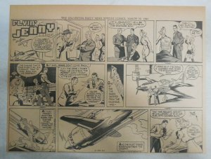 Flying Jenny Sunday Page by Russell Keaton from 3/30/1941 Size 11 x 15 inches BW