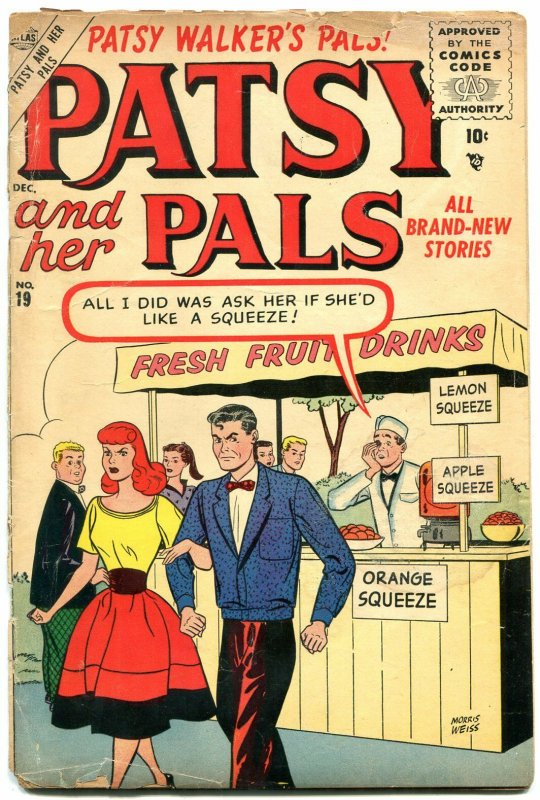 Patsy and Her Pals #19 1955-Atlas Humor- Hedy Wolf- Nancy G