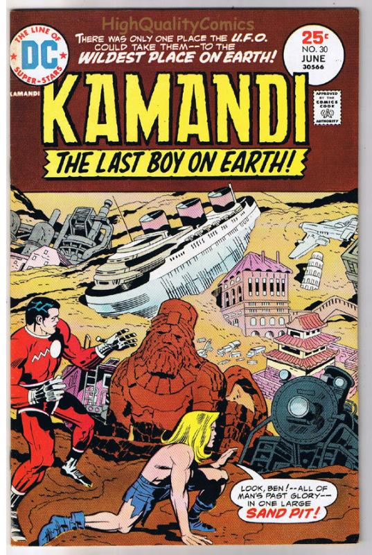 KAMANDI #30, VF, Jack Kirby, Last Boy on Earth, 1972, more JK in store