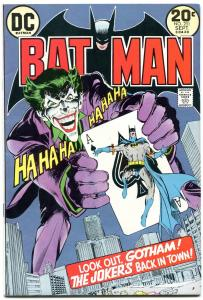 BATMAN #251 DC 1973 Classic Joker Playing Card cover comic Neal Adams VF-