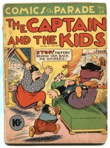 Comics On Parade #34 1941 -Captain and the Kids G