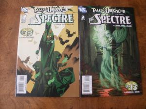 Tales of the Unexpected featuring The Spectre #1 #2 (DC) 2006 2007 plus Dr. 13