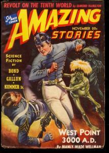AMAZING STORIES 1940 NOV-COOL SCI FI PULP FN