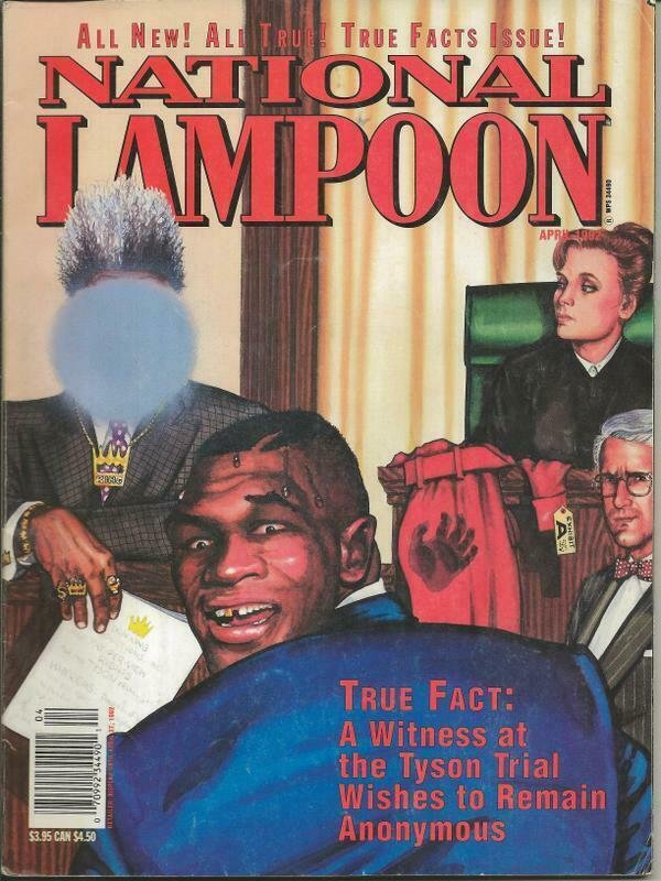 ORIGINAL Vintage Apr 1992 National Lampoon Magazine Mike Tyson Don King
