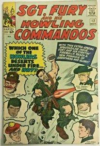 SGT. FURY#12 FN/VF 1964 MARVEL SILVER AGE COMICS
