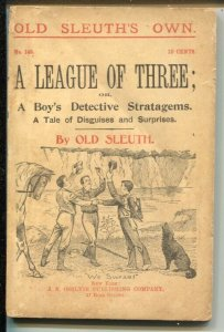 Old Sleuth's Own #145 1895-A Boy's Detective Stratagems-G/VG