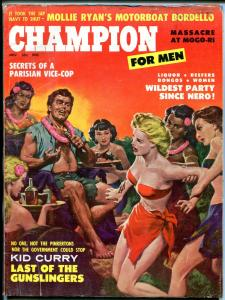 Champion for Men Magazine November 1959- Motorboat Bordello- cheesecake VG-