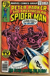 THE SPECTACULAR SPIDER-MAN #27 (Marvel,2/1979) F-VF 1ST MILLER Daredevil