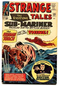 STRANGE TALES #125-comic book SUB-MARINER-THING-TORCH-MARVEL vg-