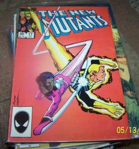 NEW MUTANTS  # 17 1984 marvel   X MEN NEW HELLIONS warpath key