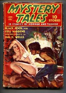 MYSTERY TALES June 1938-Norman Saunders weird menace cover-Rare Pulp Mag!