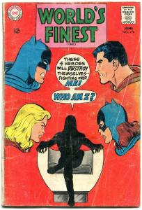 WORLDS FINEST #176 1968-DC COMICS-BATMAN-SUPERMAN-ADAMS G